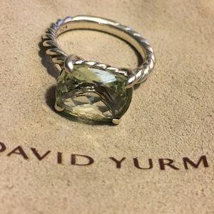 """David Yurman """"Color Classics"""" ring Prasiolite Sz 7"""